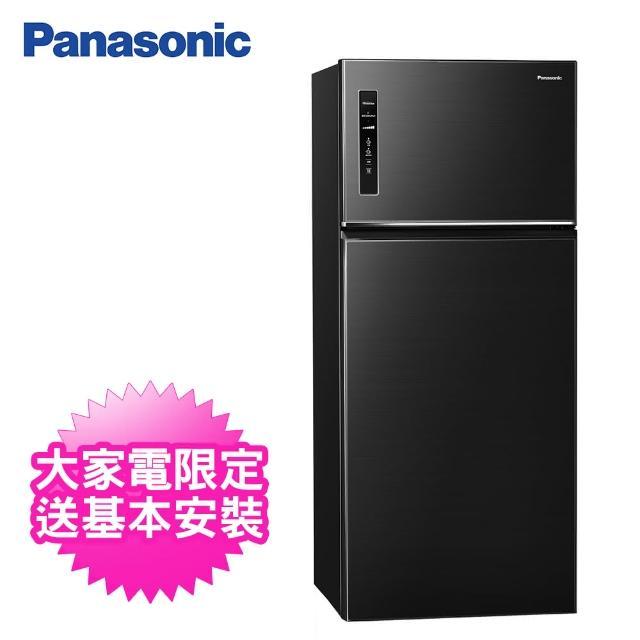 【Panasonic 國際牌】579公升一級能效雙門變頻冰箱(NR-B581TV-K晶漾黑)