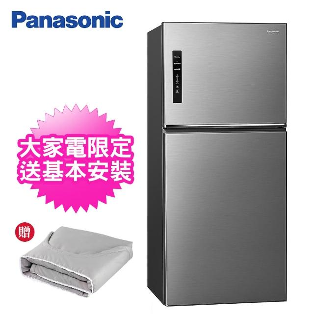 【Panasonic 國際牌】650公升一級能效雙門變頻冰箱(NR-B651TV-S晶漾銀)