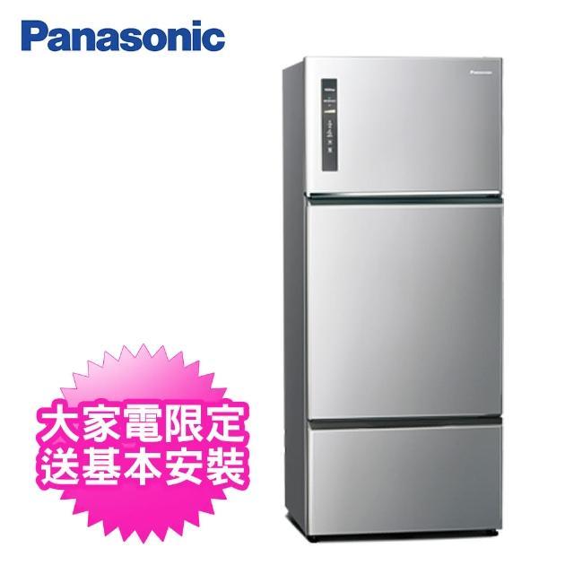 【Panasonic 國際牌】481公升一級能效三門變頻冰箱(NR-C481TV-S晶漾銀)