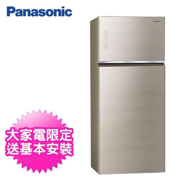 【Panasonic 國際牌】579公升一級能效雙門變頻冰箱(NR-B581TG-N翡翠金)