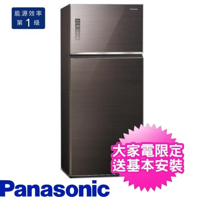 【Panasonic 國際牌】579L雙門變頻電冰箱曜石棕(NR-B581TG-T)