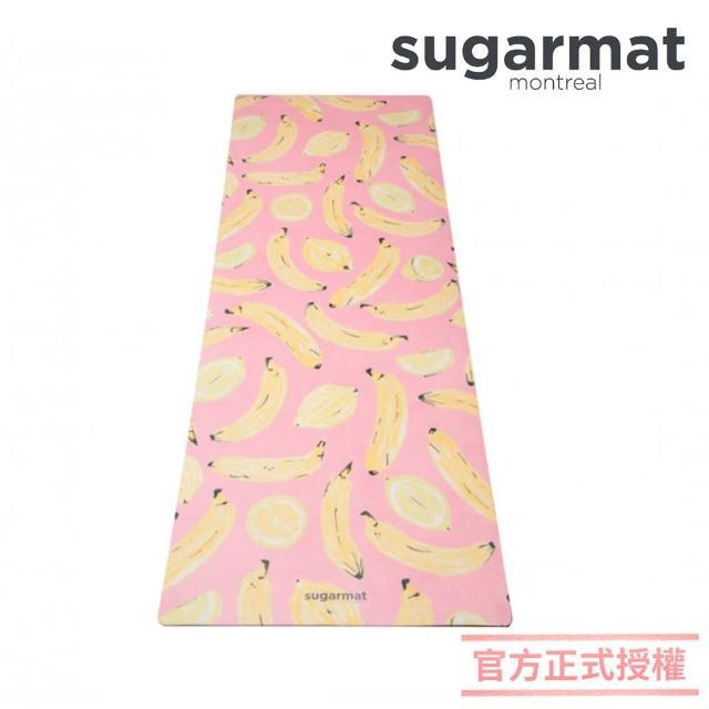【加拿大Sugarmat】麂皮絨天然橡膠瑜珈墊 3.0mm(水果戀曲Banana & Lemon)