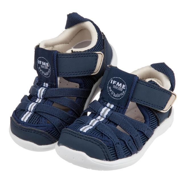 【布布童鞋】日本IFME軍藍和風寶寶機能水涼鞋(P1A601B)