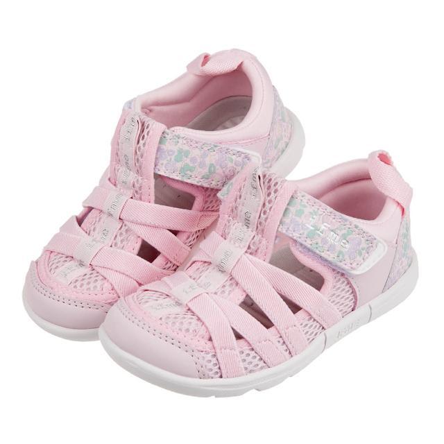 【布布童鞋】日本IFME粉色和風花繪兒童機能水涼鞋(P1G603G)