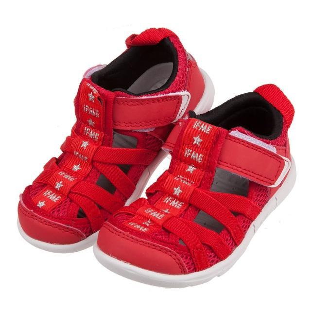【布布童鞋】日本IFME紅色和風兒童機能水涼鞋(P1K502A)