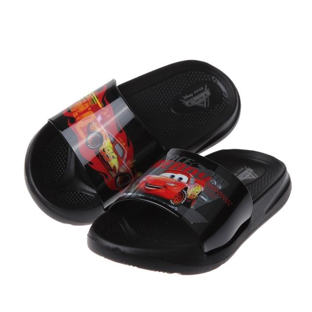【布布童鞋】Disney閃電麥坤黑色亮彩兒童輕量拖鞋(D1A051D)