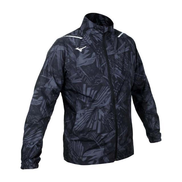 【MIZUNO 美津濃】男平織運動外套-立領外套 慢跑 美津濃 黑灰銀(32ME051008)