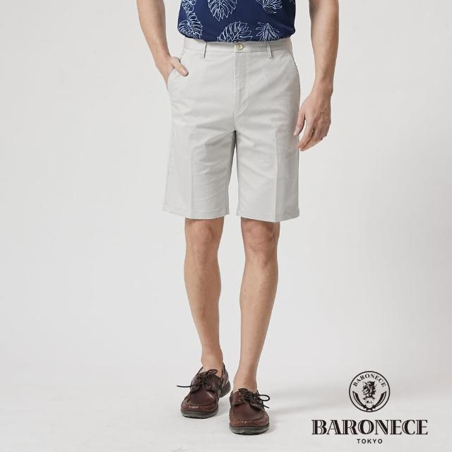 【BARONECE 百諾禮士】男裝 彈性天絲縲縈合身平口休閒短褲--卡其色(1188961-82)