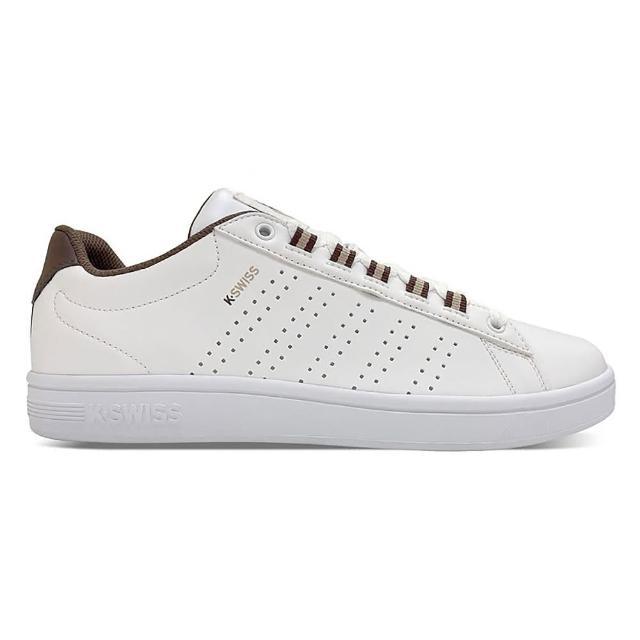 【K-SWISS】時尚運動鞋 Court Casper II S-男 白 咖啡(06975117)