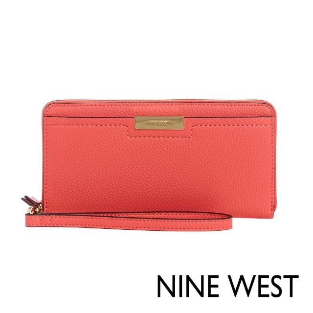 【NINE WEST】KENNEDY手掛式長夾-珊瑚紅(106846)