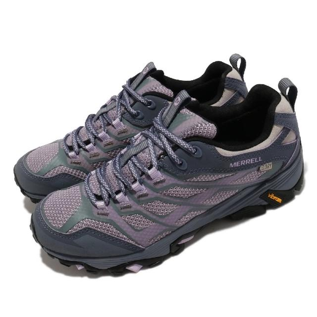 【MERRELL】戶外鞋 Moab FST Wateproof 女鞋 登山 越野 耐磨 黃金大底 避震 穩定 紫 黑(ML37558)