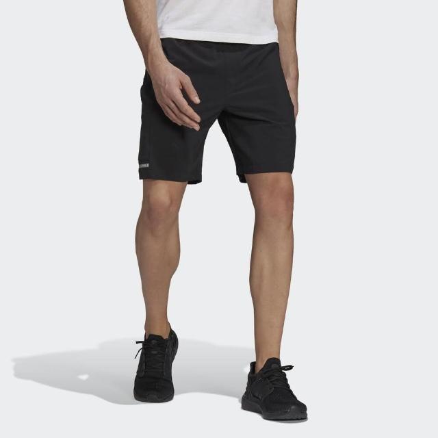 【adidas 愛迪達】Adidas Th Short Wv Id 男 短褲 運動 健身 訓練 休閒 舒適 透氣 拉鍊口袋 黑(GU1744)