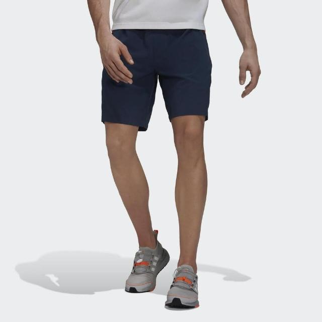 【adidas 愛迪達】Adidas Th Short Wv Id 男 短褲 運動 健身 訓練 休閒 舒適 透氣 拉鍊口袋 藍(GU1746)