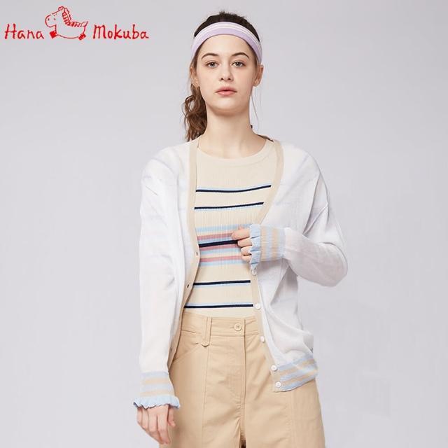 【Hana Mokuba】花木馬日系女裝氣質深V領針織開衫(針織衫)