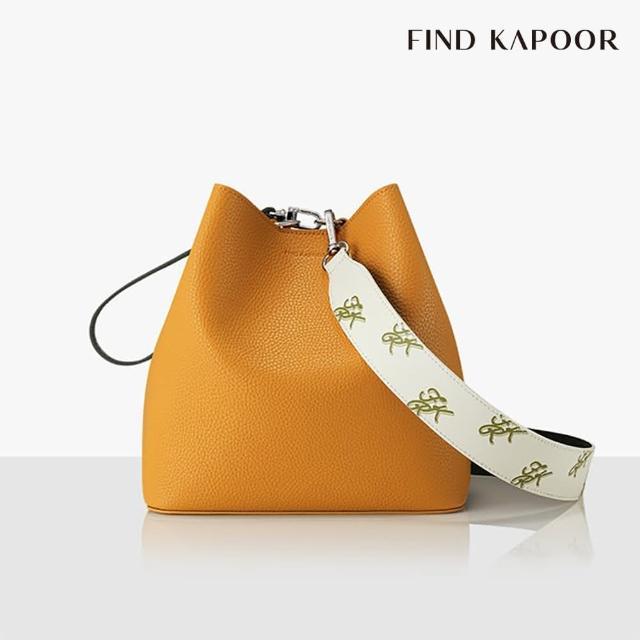 【FIND KAPOOR】PINGO 23 BASIC 印花 系列 手提斜背水桶包- 芥末黃