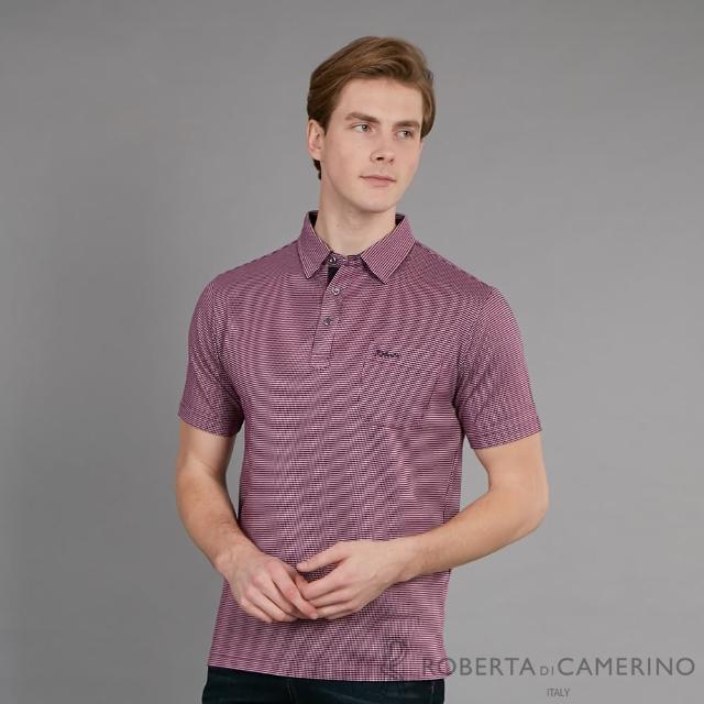 【ROBERTA 諾貝達】台灣製 簡約時尚 都會經典休閒短袖棉衫(紫色)