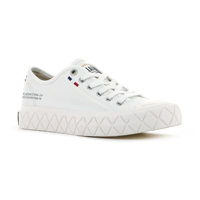 【Palladium】PALLA ACE CVS 白色 男女款 黃膠底 餅乾鞋(77014116)