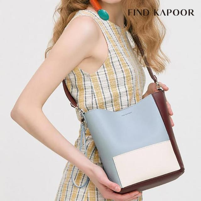 【FIND KAPOOR】PINGO 20 拼接系列 手提斜背水桶包- 粉藍色拚接