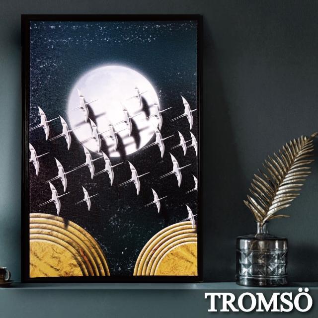 【TROMSO】北歐時代風尚有框畫-星辰圓月WA182(無框畫掛畫掛飾抽象畫)