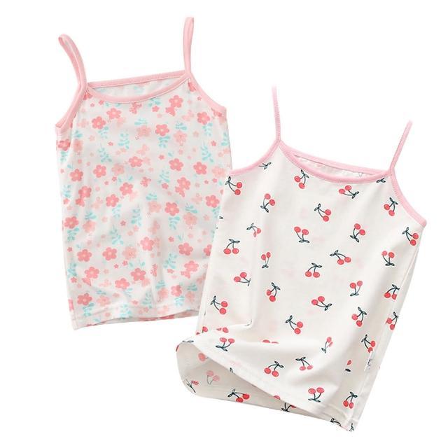 【Baby 童衣】女童背心 細肩帶滿印上衣 88704(共2色)