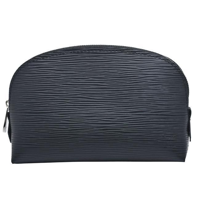 【Louis Vuitton 路易威登】M41348 POCHE經典EPI皮革萬用化妝包(黑)