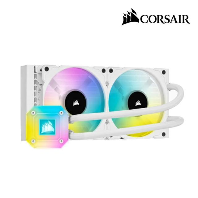 【CORSAIR 海盜船】iCUE H100i ELITE CAPELLIX水冷散熱器(白)
