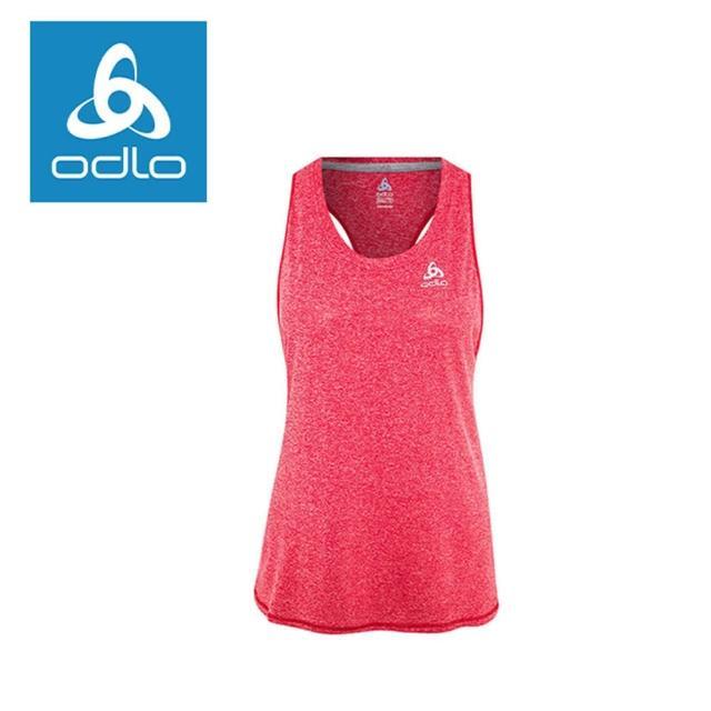 【ODLO】女套頭衫削肩挖背麻色系圓下擺 347661 30212-淺玫瑰紅