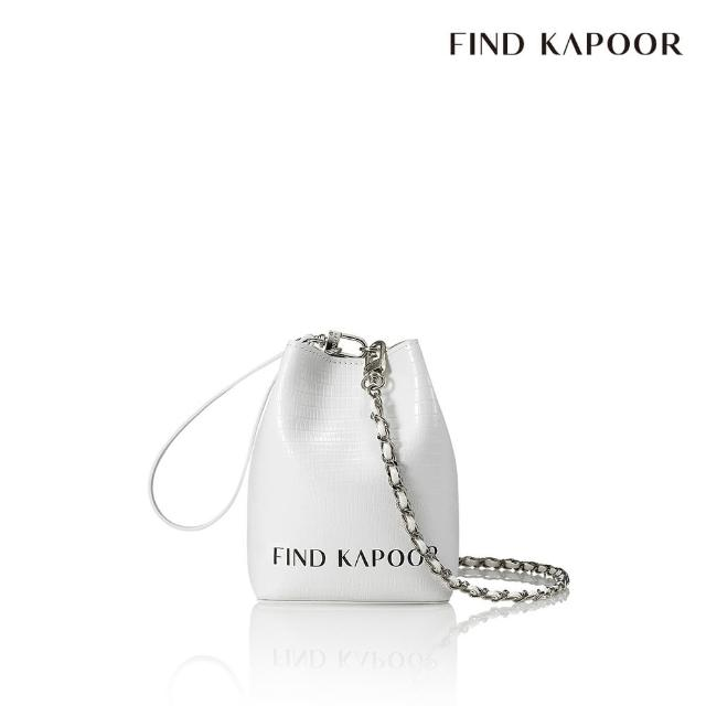 【FIND KAPOOR】MINI PINGO 字母鍊帶系列 手提斜背水桶包- 白色