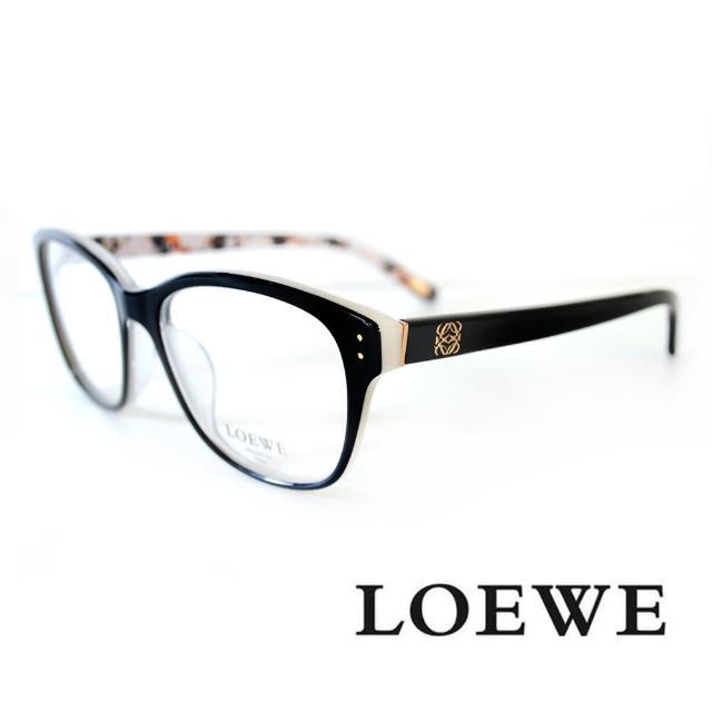 【LOEWE 羅威】新春天款 優雅花語系列光學眼鏡(黑 VLW853-01G9)