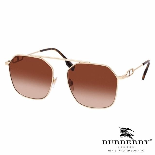 【BURBERRY 巴寶莉】時尚金屬流線款(棕#3124 110/913)