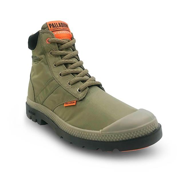 【Palladium】PAMPA LITE+ SC VAPOR WP+輕量 拉鍊 防水靴 中性 綠(76865377)