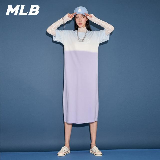 【MLB】短袖連身裙 漸層染色 洛杉磯道奇隊(31OP11131-07V)