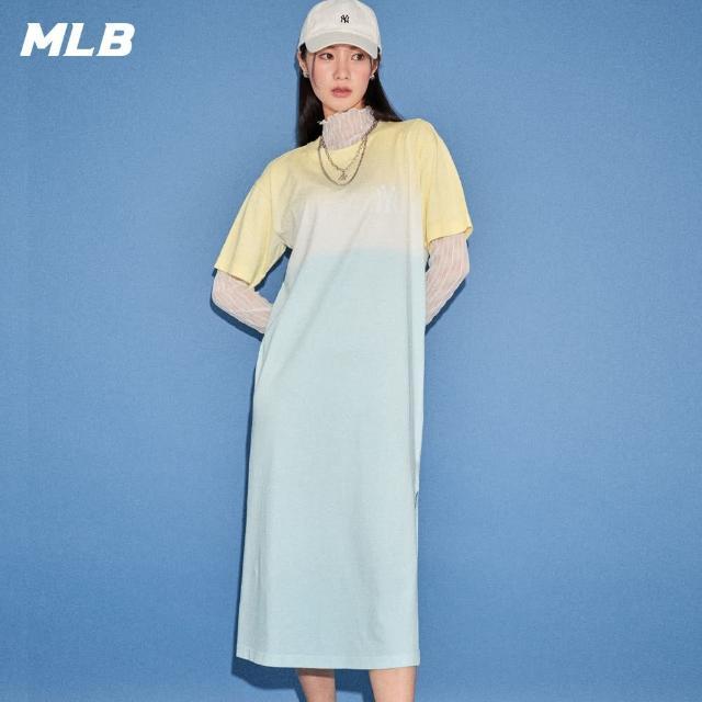 【MLB】短袖連身裙 漸層染色 紐約洋基隊(31OP11131-50S)