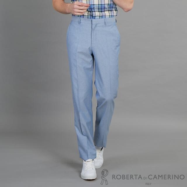 【ROBERTA 諾貝達】合身版 都會時尚精品西裝褲(藍色)