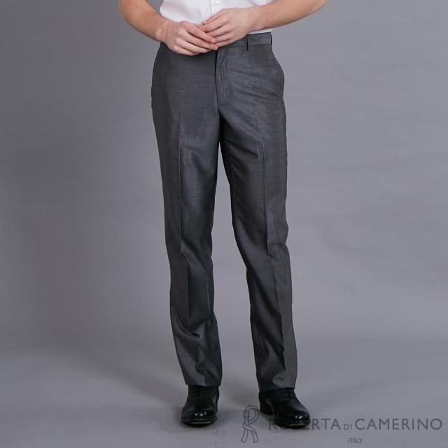 【ROBERTA 諾貝達】合身版 都會流行精品西裝褲(灰色)