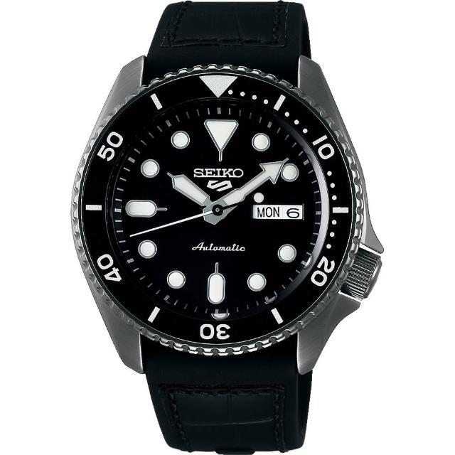 【SEIKO 精工】5 Sports 系列機械錶-黑 42.5mm(4R36-07G0X/SRPD65K3)