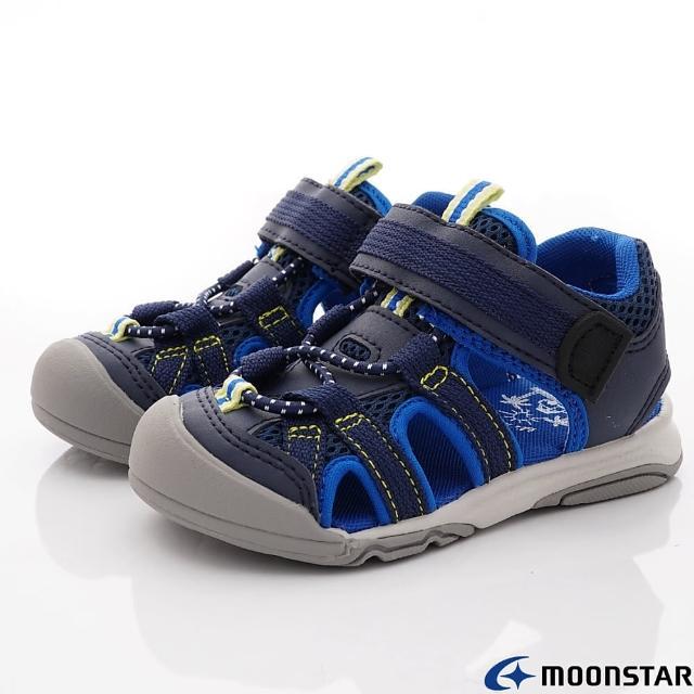 【MOONSTAR 月星】護趾涼鞋機能款(MFLS003C5-藍-15-21cm)