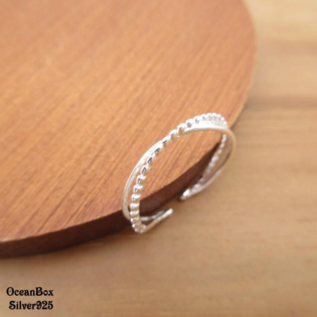 【海洋盒子】細版雙線條造型開口式925純銀戒指.速銀色(925純銀.可調整戒圍)