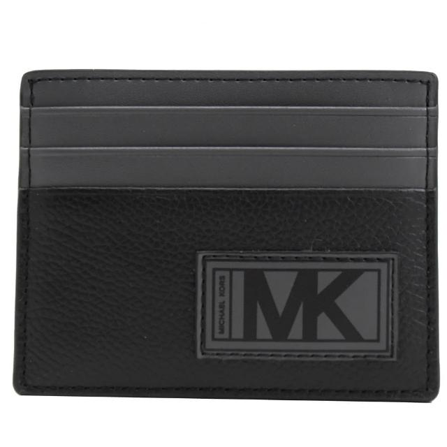 【Michael Kors】GIFTING 大MK名片夾信用卡夾禮盒(黑灰)