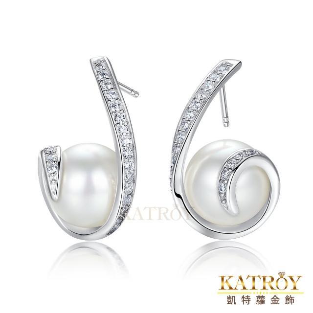 【KATROY】珍珠耳環 12.0 mm 夢迴 純銀耳環 母親節禮物推薦 FG20022(白色珍珠)