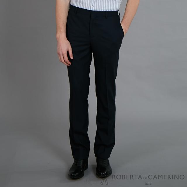 【ROBERTA 諾貝達】進口素材 修身時尚 流行西裝褲(黑色)