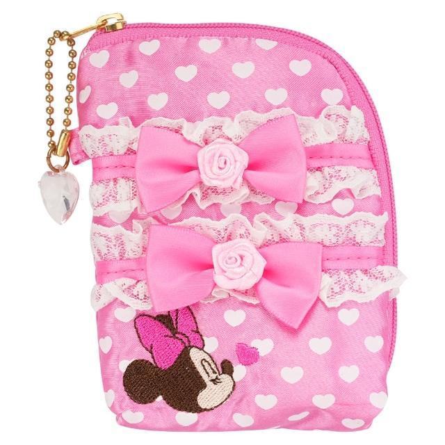 【TDL】迪士尼米妮零錢包飾品收納袋手機套卡套多功能收納包 164827