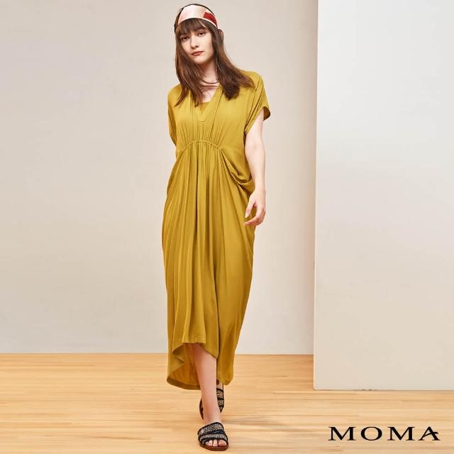 【MOMA】落肩設計異國風洋裝(黃色)