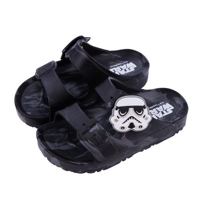 【Disney 迪士尼】迪士尼童鞋 星際大戰 迷彩風輕量防水拖鞋-黑(MIT台灣在地工廠製造)