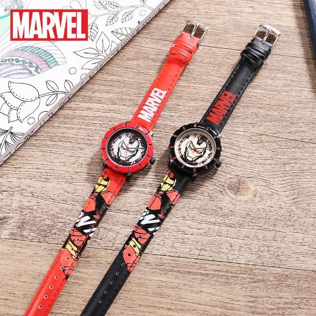 【Disney 迪士尼】漫威系列 鋼鐵人防水石英男款手錶 男童手錶