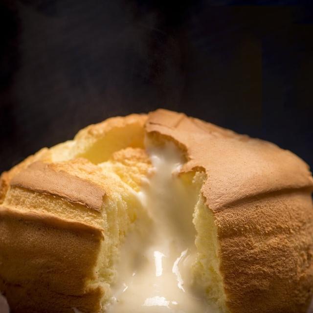【樂樂甜點】樂樂爆漿布丁蛋糕(6吋/盒_原味/巧克力-2盒)