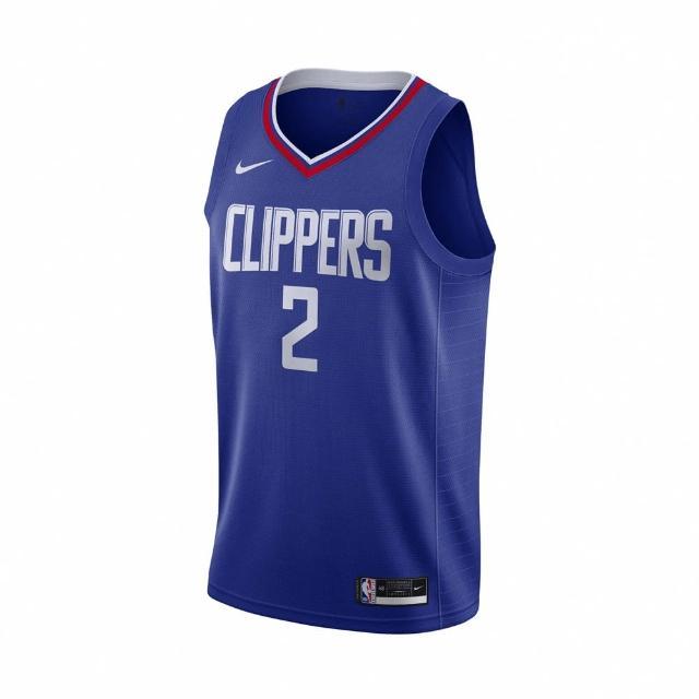 【NIKE 耐吉】球衣 Kawhi Leonard NBA球星 男款 洛杉磯快艇 雷納德 可愛 2號 吸濕排汗 藍 紅(CW3668-402)