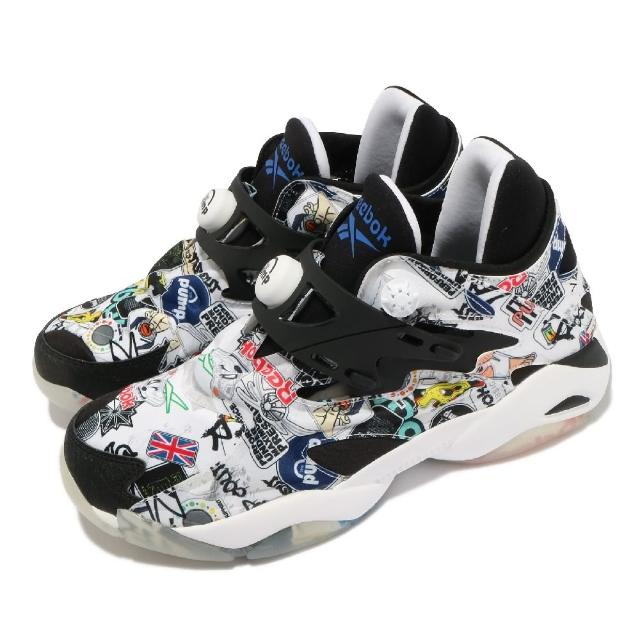 【REEBOK】休閒鞋 Pump Court 襪套 運動 男鞋 海外限定 輕量 舒適 充氣科技 穿搭 白 黑(FW7826)