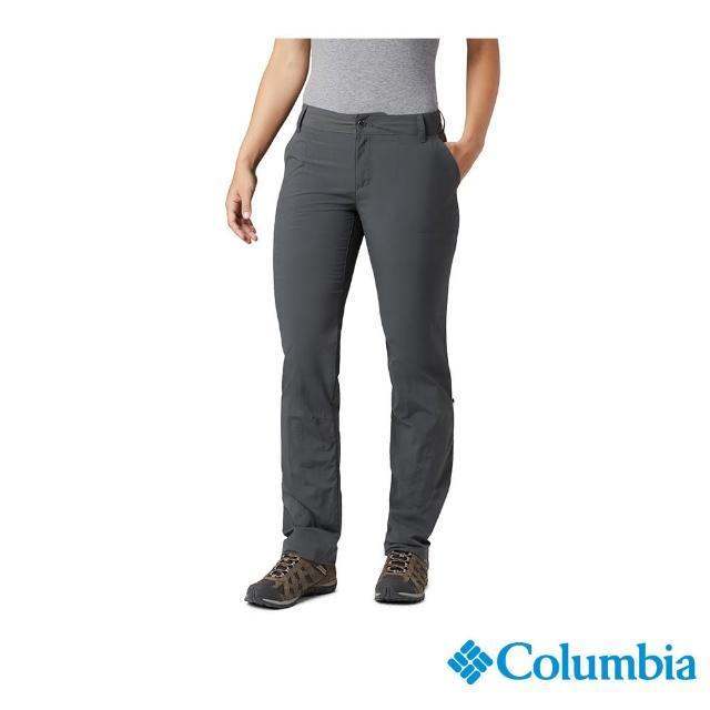 【Columbia 哥倫比亞】女款- UPF50快排長褲-深灰(UAR26680DY / 快排.防曬.休閒)