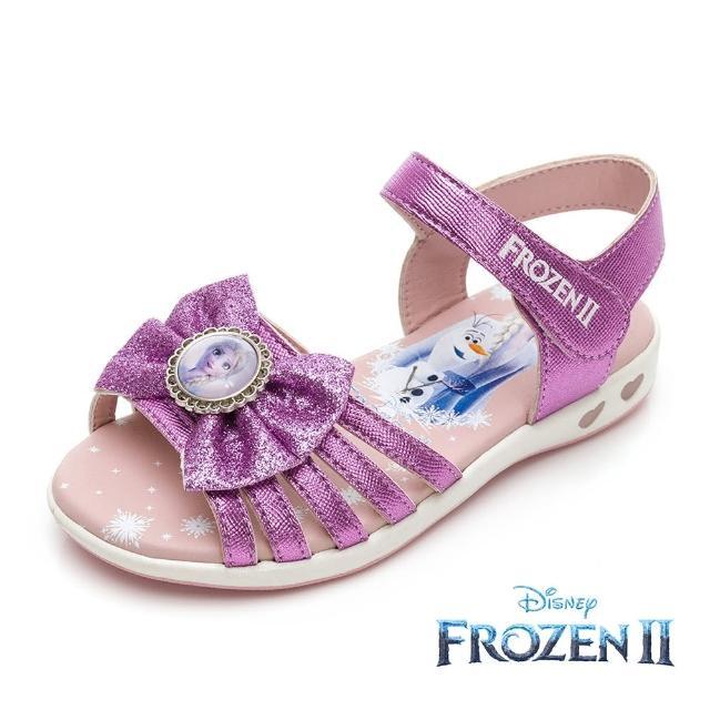 【Disney 迪士尼】冰雪奇緣2 電燈款 休閒涼鞋 薰衣紫(FNKT14127正版授權)